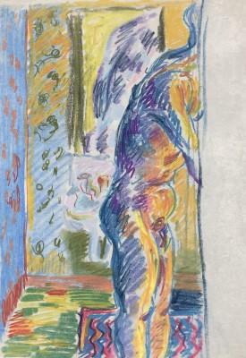 Glyn Morgan (1926-2015)Interior, Benton End, c. 1948