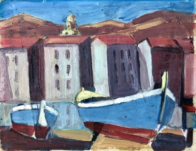 Harold James Woods (b. 1894)Mediterranean Port, c. 1930