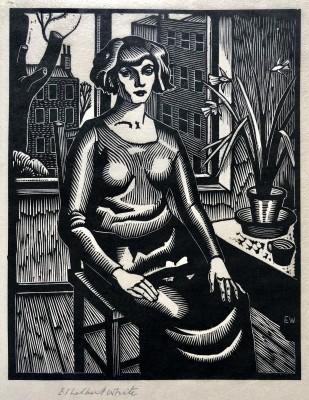 Ethelbert White (1891-1972)Woman by a Window (Betty White), 1926
