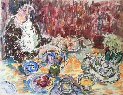 Glyn Morgan (1926-2015)Interior, c. 1948