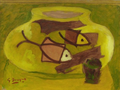 Georges Braque (1882-1963)L'aquarium au verre, 1944