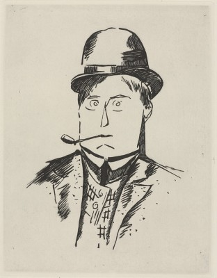 Maurice de Vlaminck (1876-1956)Self Portrait with Pipe