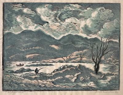 Ethelbert White (1891-1972)Dark Mountain, c. 1950