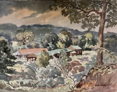 Ethelbert White (1891-1972)A West Country Farm, c. 1933