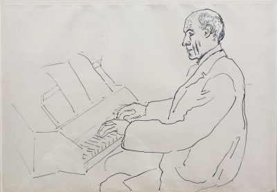 Roger Fry (1866-1934)Andre Gide playing the Virginals , 1918