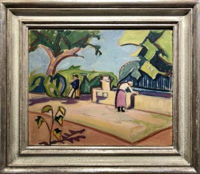 Adolphe Marie Beaufrère (1876-1960)Vue de Village, c. 1930