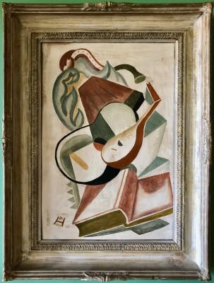 Doris Hatt (1890-1969)Still Life with Musical Instruments, 1947