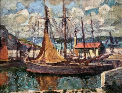 John Anthony Park (1880-1962)Brixham Harbour, c. 1908