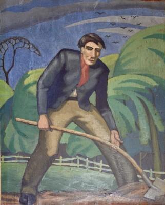Ethelbert White (1891-1972)Digging Man, 1916