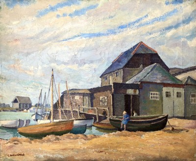 Ethelbert White (1891-1972)Littlehampton Harbour, c. 1935