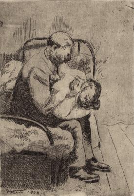 Walter Sickert (1860-1942)The Camden Town Murder (Larger plate), 1908