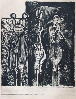 Graham Sutherland (1903-1980)Three Standing Forms, 1953