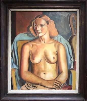 Bernard Meninsky (1891-1950)Seated Nude, 1932