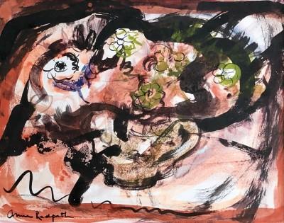 Anne Redpath (1895-1965)FLOWERS IN A TEAPOT