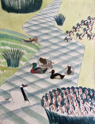 Rupert Lee (1887-1959)Duck Design, 1919