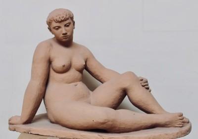 Edward Folkard (1911-2005)Seated Nude, 1948