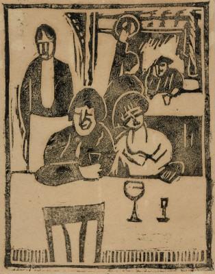 Horace Brodzky (1885-1969)The Restaurant, 1919