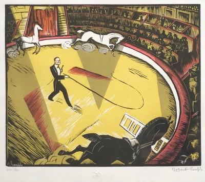 Robert Bonfils (1886-1971)Le circque, 1928