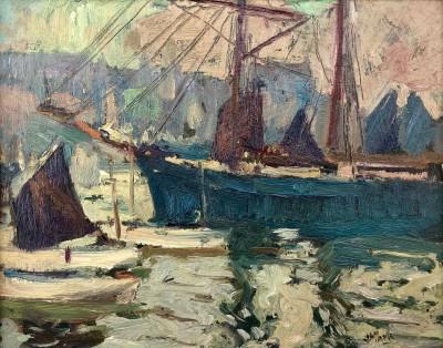 John Anthony Park (1880-1962)St. Ives Harbour, c. 1910