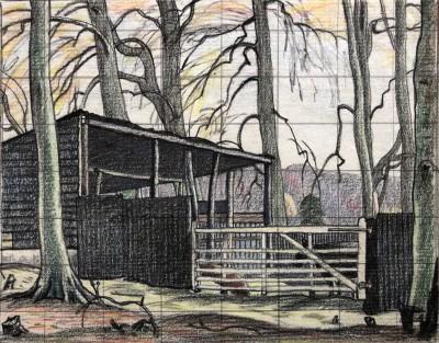 Ethelbert White (1891-1972)A Sussex Farmyard, c. 1922