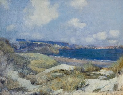 Guy Kortright (1876-1948)Carbis Bay, St. Ives with Distant Train, c. 1910
