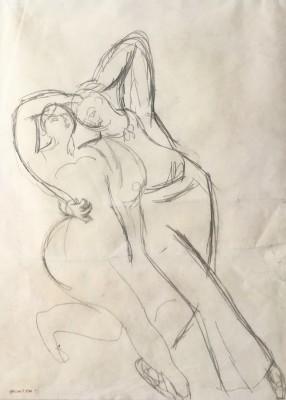 Duncan Grant (1885-1978)Massine and Lydia Lopokova Dancing, 1919