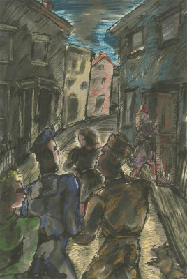 Vera Cuningham (1897-1955)London Street in Wartime, c. 1945