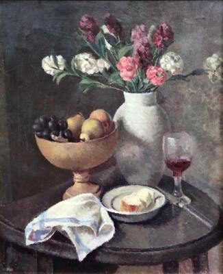 Dorothy Hepworth (1898-1978)Still Life of Pinks in Roger Fry's White Vase, c. 1935