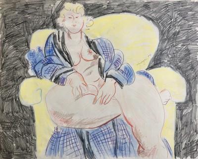 Glyn Morgan (1926-2015)Seated Nude, 1957