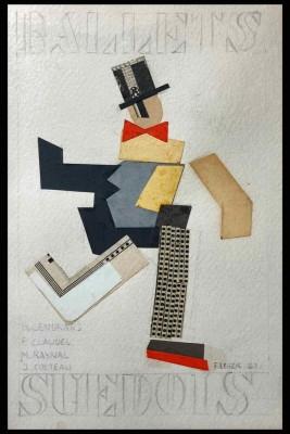 Fernand Léger (1881-1955)Projets de couverture pour le programme des Ballet Suedois, 1923