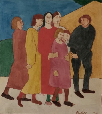 Horace Brodzky (1885-1969)Family Group, 1916