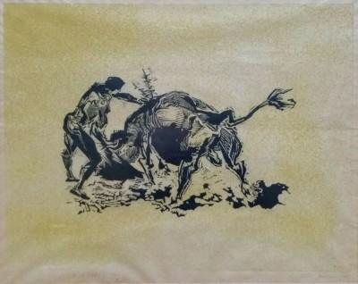 Gertrude Hermes (1901-1983)Bull Fight 4, 1955