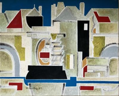Roger Quillery (1914-1991)Seine-et-Marne, 1957