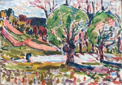 Harry Phelan Gibb (1870-1948)Landscape with Trees, 1906