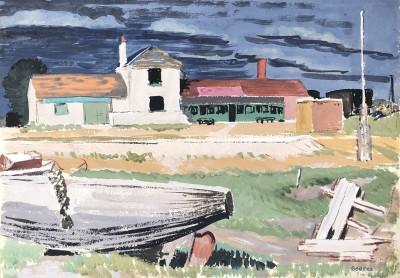 Margaret Geddes (1914-1998)A Norfolk Boatyard, 1939