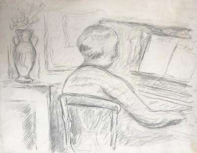 Pierre Bonnard (1867-1947)Femme au piano, 1925