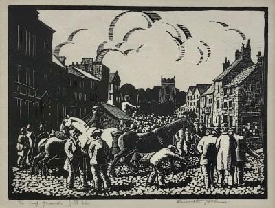 Kenneth Holmes (1902-1994)Skipton Horse Fair, c. 1930's