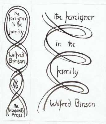 """Vanessa Bell (1879-1961)Original dustwrapper design for """"The Foreigner in the Family"""" by Wilfrid Benson, c. 1928"""