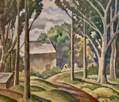 Ethelbert White (1891-1972)The Lane to The Cottage, c. 1926