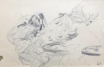 Edouard Vuillard (1868-1940)Study for 'Le Telegramme' (Cushions and Saucers), c. 1933