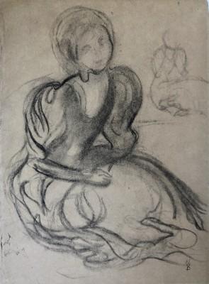 Maurice Denis (1870-1943)Study for 'Le Verger des Vierges Sages', 1893
