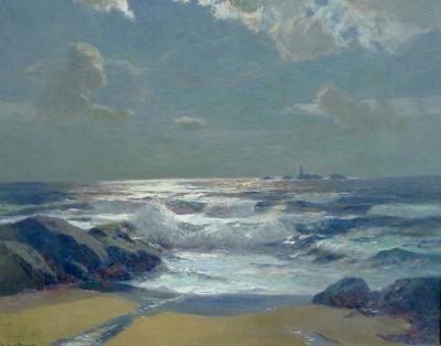 Julius Olsson (1864-1942)The Longships Light from Lands End, c. 1895
