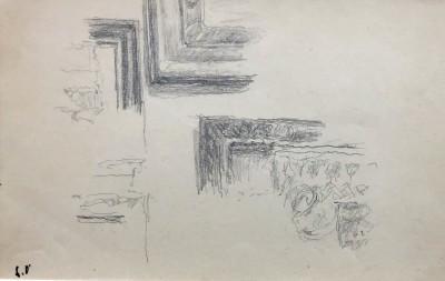 Edouard Vuillard (1868-1940)Study for 'Le Telegramme' (Frame Motifs), c. 1933