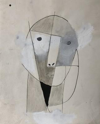 Carlos Carnero (1922-1980)Visage cubiste, c. 1955