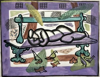 Doris Hatt (1890-1969)Park Bench, Paris, 1961