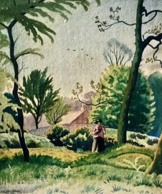 Ethelbert White (1891-1972)Betty in The Garden, 1926