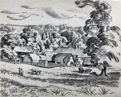 Ethelbert White (1891-1972)A Sussex Farm, c. 1930