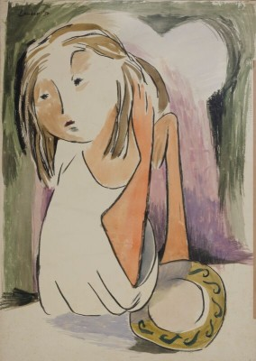 Kenneth Lauder (1916-2004)Figure at a Table, 1951