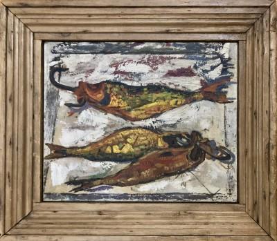 Adrian Ryan (1920-1998)Still Life with Fish, 1958