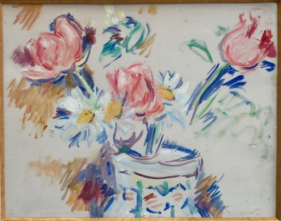 Othon Friesz (1879-1949)Still Life with Tulips and Daisies in a Decorated Vase, c. 1920s